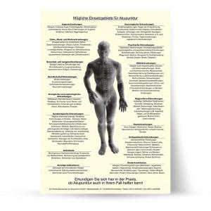 Ansicht Wartezimmerposter Akupunktur